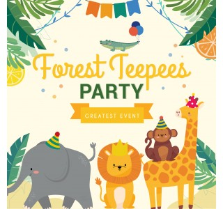 Forest Teepee Party