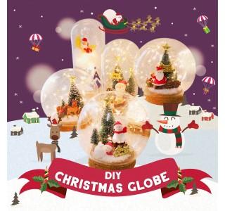 DIY Christmas Lighted Globe