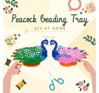 DIY Peacock Beading Tray