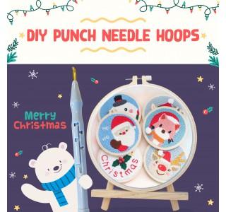 DIY Punch Needle Hoops