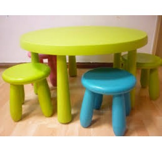 Children Table and Stools Set